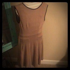 Massimo Dutti tan sleeveless dress